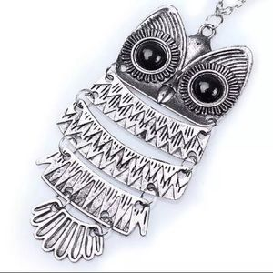 Silver Owl Necklace Gift